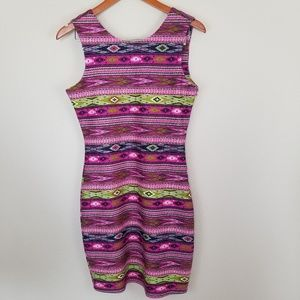 MM Couture Aztec Print Bodycon Dress